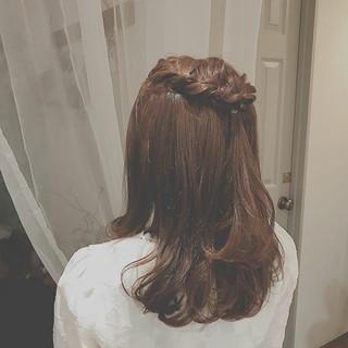 簡単ヘアアレンジ デート 大人かわいい フェミニン ヘアスタイルや髪型の写真・画像