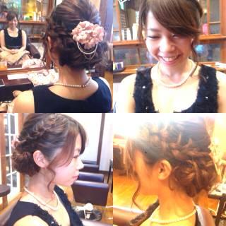 編み込み 愛され モテ髪 ヘアアレンジ ヘアスタイルや髪型の写真・画像