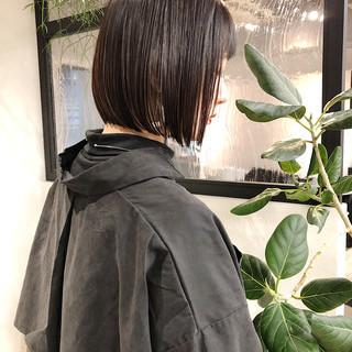 ボブ ストレート ミニボブ 縮毛矯正 ヘアスタイルや髪型の写真・画像   本田 重人 / GRAFF hair
