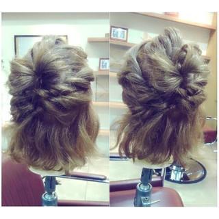 ミディアム 大人女子 かわいい 謝恩会 ヘアスタイルや髪型の写真・画像