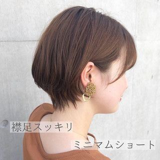 ナチュラル ショート デジタルパーマ 小顔ショート ヘアスタイルや髪型の写真・画像