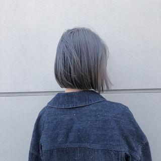 ハイトーン ミニボブ ショートボブ ストリート ヘアスタイルや髪型の写真・画像 ヘアスタイルや髪型の写真・画像