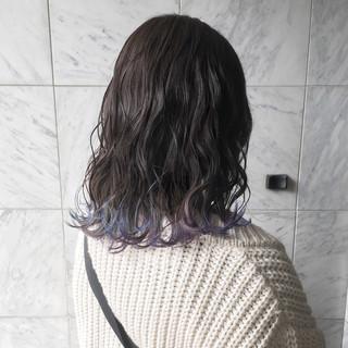 ハイトーンカラー 外国人風カラー セミロング 透明感カラー ヘアスタイルや髪型の写真・画像