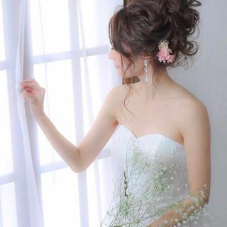 簡単ヘアアレンジ セミロング 結婚式 成人式 ヘアスタイルや髪型の写真・画像 ヘアスタイルや髪型の写真・画像