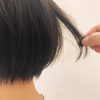 ショート ボブ 簡単ヘアアレンジ ナチュラル ヘアスタイルや髪型の写真・画像