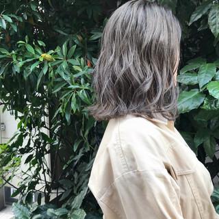 モード 透明感カラー ミディアム ヘアアレンジ ヘアスタイルや髪型の写真・画像