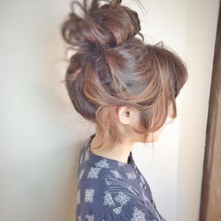大人女子 ミディアム ルーズ ヘアアレンジ ヘアスタイルや髪型の写真・画像