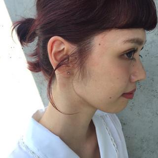 外国人風 ショート ガーリー 簡単ヘアアレンジ ヘアスタイルや髪型の写真・画像 ヘアスタイルや髪型の写真・画像