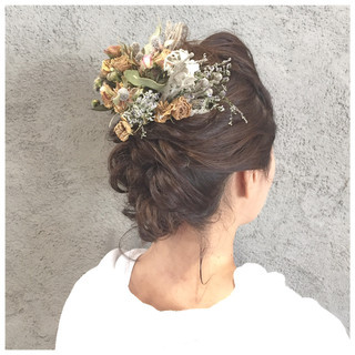 上品 セミロング 結婚式 エレガント ヘアスタイルや髪型の写真・画像 ヘアスタイルや髪型の写真・画像