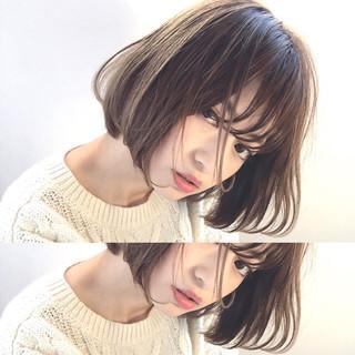 ピュア 前髪あり 色気 冬 ヘアスタイルや髪型の写真・画像