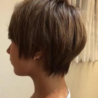 ショート デート ピュア ハイライト ヘアスタイルや髪型の写真・画像