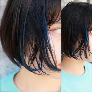 モード 小顔 こなれ感 黒髪 ヘアスタイルや髪型の写真・画像