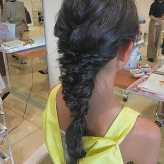 ショート デート ナチュラル ヘアアレンジ ヘアスタイルや髪型の写真・画像