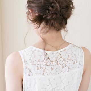 ミディアム 結婚式 大人かわいい ヘアアレンジ ヘアスタイルや髪型の写真・画像 ヘアスタイルや髪型の写真・画像