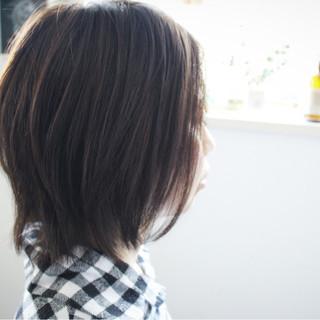 ミディアム ボブ 色気 アッシュ ヘアスタイルや髪型の写真・画像