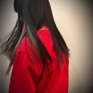 ユニコーンカラー ストリート ハイライト インナーカラー ヘアスタイルや髪型の写真・画像