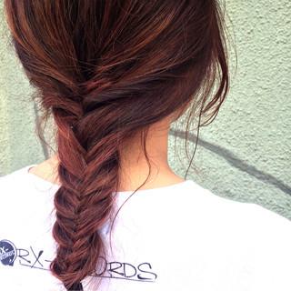 ヘアアレンジ ショート ピンク ストリート ヘアスタイルや髪型の写真・画像