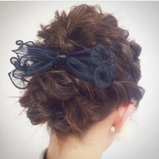 アップスタイル ショート ヘアアレンジ ガーリー ヘアスタイルや髪型の写真・画像