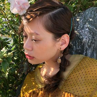 簡単ヘアアレンジ ショート ヘアアレンジ デート ヘアスタイルや髪型の写真・画像