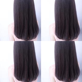 ハイライト アッシュ フェミニン 黒髪 ヘアスタイルや髪型の写真・画像
