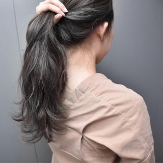 外国人風 グレージュ ハイライト ヘアアレンジ ヘアスタイルや髪型の写真・画像