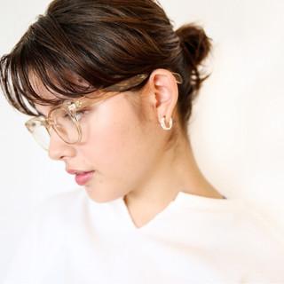 女子力 簡単ヘアアレンジ モード ミディアム ヘアスタイルや髪型の写真・画像