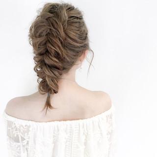 エレガント 上品 セミロング 編み込み ヘアスタイルや髪型の写真・画像 ヘアスタイルや髪型の写真・画像