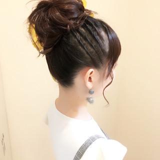 ヘアアレンジ 簡単ヘアアレンジ デート 結婚式 ヘアスタイルや髪型の写真・画像