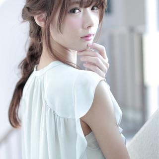 かわいい ハーフアップ 大人かわいい ルーズ ヘアスタイルや髪型の写真・画像 ヘアスタイルや髪型の写真・画像