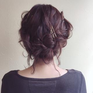 フェミニン ヘアアレンジ 大人女子 大人かわいい ヘアスタイルや髪型の写真・画像