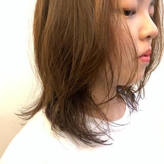 デート ストリート パーマ セミロング ヘアスタイルや髪型の写真・画像