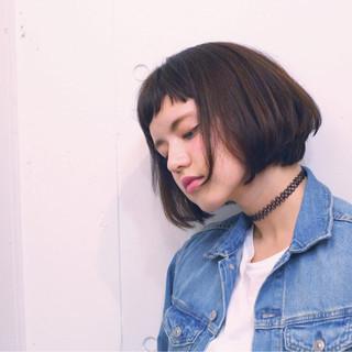 かわいい 大人女子 ボブ アッシュ ヘアスタイルや髪型の写真・画像