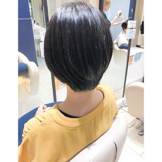 ショートボブ ナチュラル ボブ ショートヘア ヘアスタイルや髪型の写真・画像