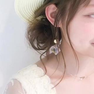 デート 麦わら帽子 女子会 ナチュラル ヘアスタイルや髪型の写真・画像