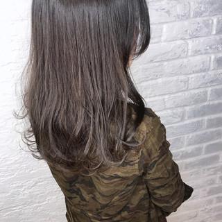 ミルクティーグレージュ ナチュラル グレージュ デート ヘアスタイルや髪型の写真・画像