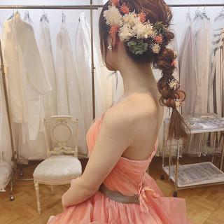 成人式 ヘアアレンジ 簡単ヘアアレンジ フェミニン ヘアスタイルや髪型の写真・画像