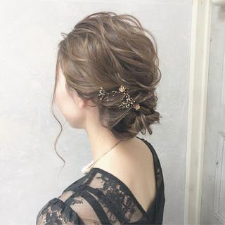 謝恩会 上品 結婚式 ヘアアレンジ ヘアスタイルや髪型の写真・画像
