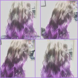 フェミニン 外国人風 グラデーションカラー ロング ヘアスタイルや髪型の写真・画像