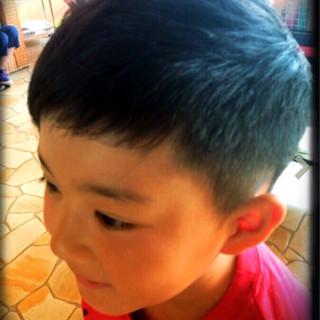 かわいい ストリート メンズ 子供 ヘアスタイルや髪型の写真・画像