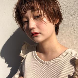 ゆるナチュラル 外国人風カラー ショート ナチュラル ヘアスタイルや髪型の写真・画像