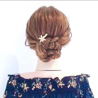 アップスタイル セルフアレンジ オフィス フェミニン ヘアスタイルや髪型の写真・画像