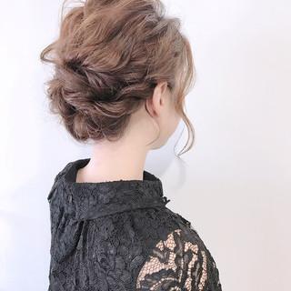 成人式 ミディアム ヘアアレンジ 結婚式 ヘアスタイルや髪型の写真・画像