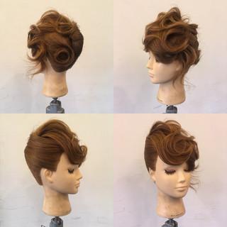 夜会巻 パーティ ヘアアレンジ 結婚式 ヘアスタイルや髪型の写真・画像 ヘアスタイルや髪型の写真・画像