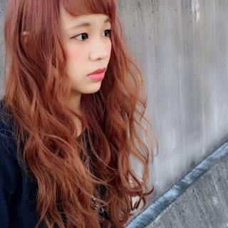 外国人風 ロング グラデーションカラー フェミニン ヘアスタイルや髪型の写真・画像
