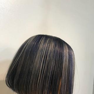 ボブ ブルー アッシュ ストリート ヘアスタイルや髪型の写真・画像 ヘアスタイルや髪型の写真・画像