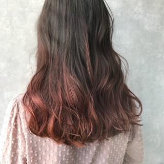 ダブルカラー グラデーションカラー インナーカラー ハイトーン ヘアスタイルや髪型の写真・画像 ヘアスタイルや髪型の写真・画像
