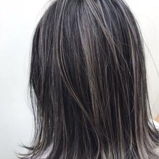 ハイライト 上品 セミロング 外国人風カラー ヘアスタイルや髪型の写真・画像