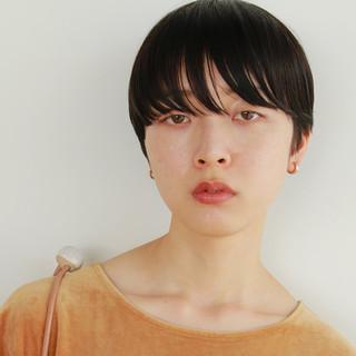 前髪あり かっこいい 抜け感 ナチュラル ヘアスタイルや髪型の写真・画像