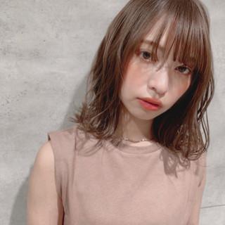 かわいい 外ハネボブ 可愛い ナチュラル ヘアスタイルや髪型の写真・画像