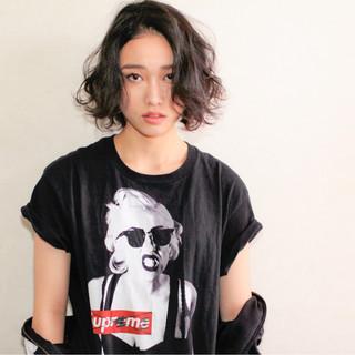 簡単 ストリート 暗髪 黒髪 ヘアスタイルや髪型の写真・画像